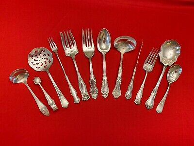 12 Mixed Pattern Silverplate Antique Victorian Ornate Serving Pieces!
