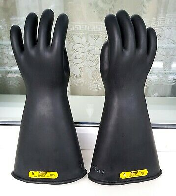North Black Heavy Rubber Gloves gr. 9