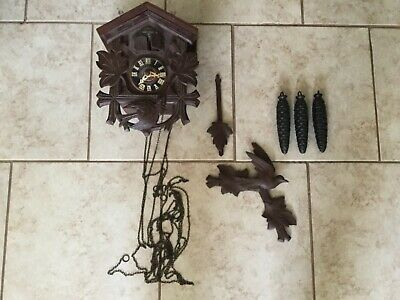 HECO Cuckoo Clock Germany Henry Coehler Movement UNTESTED FOR PARTS OR REPAIR