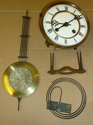 Antique striking Junghans wall clock movement c1920 for spares