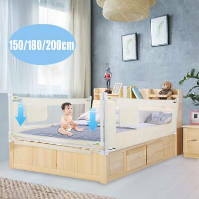 Toddler Safety Bedguard Folding Infant Bed Rail Protection Guards 150/180/200cm