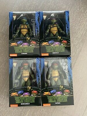 NECA Teenage Mutant Ninja Turtles 90's Movie Set of 4 Gamestop Exclusive Figures