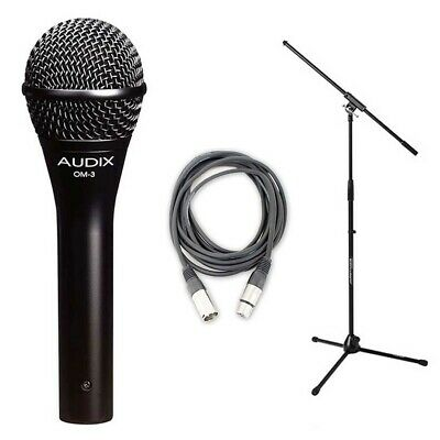 Audix OM3 Dynamic Vocal Mic with 20ft XLR Cable and Stand