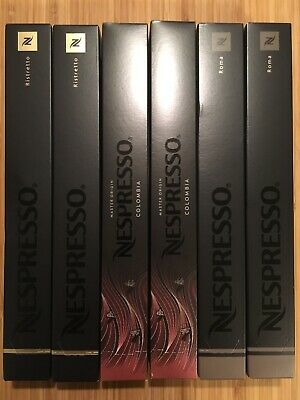 6 paquets de 10 capsules Nespresso de crus differents