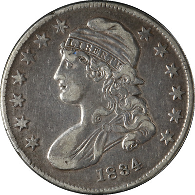1834 Bust Half Dollar Small Date & Small Letters Nice XF 0-114 R.1 Nice Strike