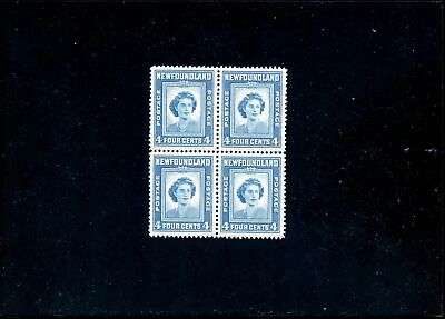 Lot 79248 Mint Nh 269 Perf 12 1/2 Block  Newfoundland Queen Mary