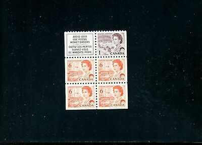 LOT 79937 MINT NH BOOKLET PANE 59e FLUORESCENT INK CANADA CENTENNIAL ISSUE