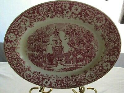 """Antique Homer Laughlin China Early American Homes INDEPENDENCE HALL Platter 12"""""""