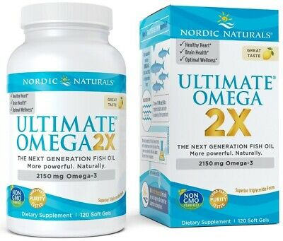 (120g, 72,18 EUR/100g) Nordic Naturals Ultimate Omega 2X, 2150mg Lemon - 120 so