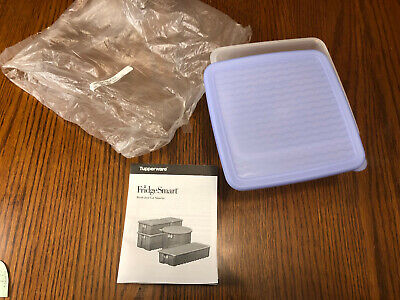 Tupperware Fridgesmart Small 4.5 Cup Produce Container Frost/Blue Seal New #3993