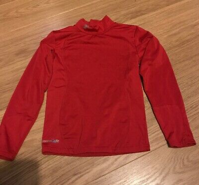 Kids Boys/Girls Thermal Base Layer Red Long Sleeved Top Sz Large Boys 30/32.