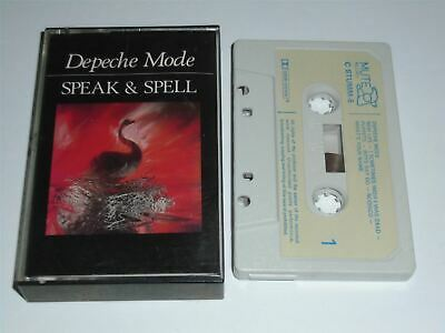 Depeche Mode - Speak And Spell Cassette Tape CSTUMM5 Mute Paper Label