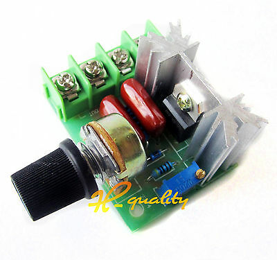 5PCS 220V 2000W Speed Controller SCR Voltage Regulator Dimmers Thermostat Good