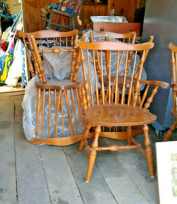 Cool 6 Vintage S Bent Brothers Bros Colonial Windsor Fiddle Back Machost Co Dining Chair Design Ideas Machostcouk