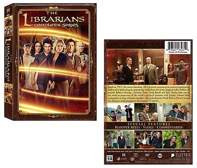 THE LIBRARIANS 1-4 (2014-2018): COMPLETE TV Season Series - NEW US Rg1 DVD Set