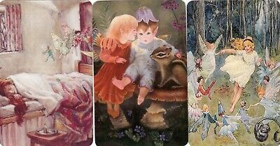 3 Swap Playing Cards Fairy Fairies Children  Blank Backs Modern #5