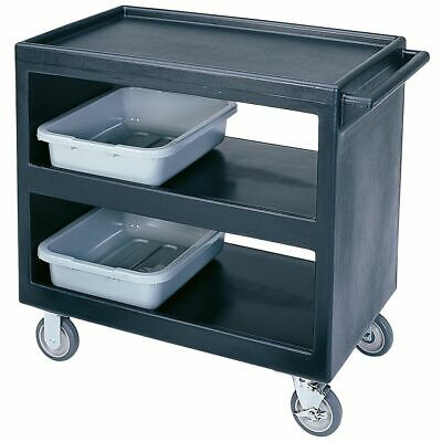 Cambro BC235110 Black Open Side 3-Shelf Service Cart
