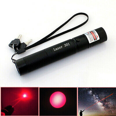 High Power Laser Pointer Pen Red Military Burn 5mw 650nm Visible Focus Light 301