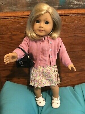 """Kit Kittredge American Girl Doll 18"""" In Original Introduction Outfit W/Purse"""