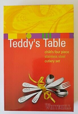 Teddy's Table Stainless Steel Child's 4 Piece Cutlery Set Whitehill