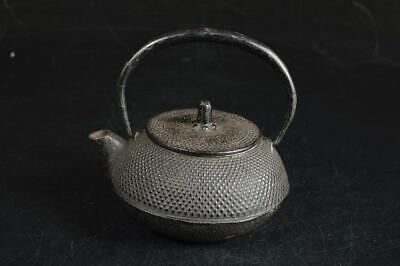 U7190: Japanese Iron Arare pattern SMALL TEA KETTLE Teapot Tetsubin Sencha