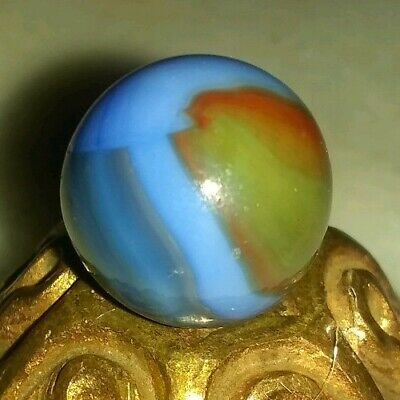 Marble King. Watermelon/Spiderman/dragonfly.  Very rare Hybrid Marble. .625