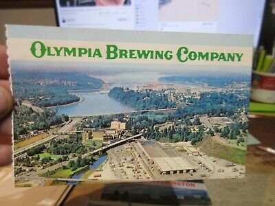 Vintage Old WASHINGTON STATE Postcard Olympia Beer Brewing Company Factory Area