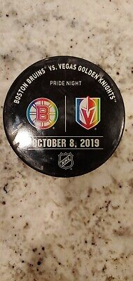 Vegas Golden Knights vs Boston Bruins Warm Up Pucks With Hologram sticker