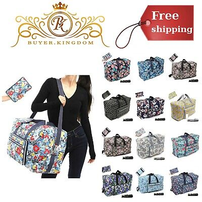 """Foldable Large Travel Duffle Overnight Carry On Shoulder Bag 22"""" Fits Luggage"""