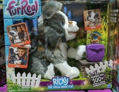 FurReal Friends Ricky, the Trick-Lovin' Interactive Plush Pet Toy, 100+ Sounds