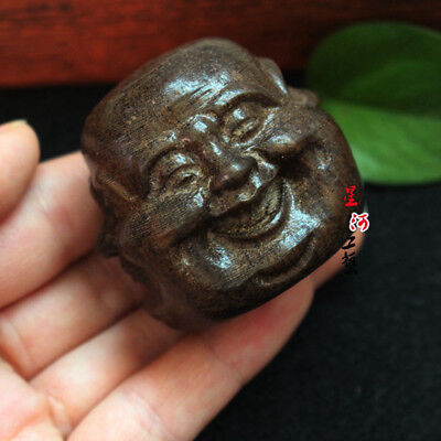 Collectibles Chinese Hand Carved Wooden Tibetan Buddhism Buddha Head Statues New