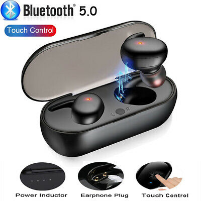 Touch Control Wireless Bluetooth 5.0 Earbuds Stereo Headphones In-Ear Headset