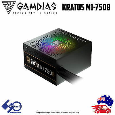 750W Power Supply Bronze 80 Plus with Addressable RGB Fan Gamdias Kratos M1-AU