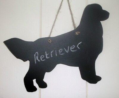 GOLDEN RETRIEVER DOG chalk board wall plaque kennel sign birthday gift pet puppy
