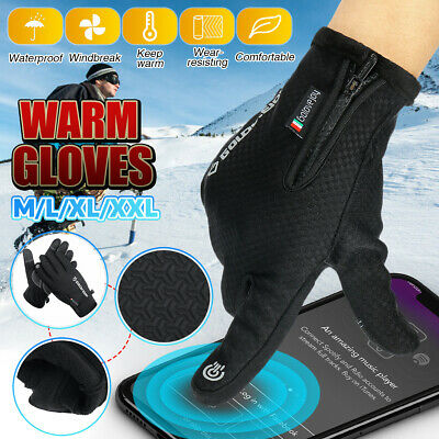 Men Women Touch Screen Gloves Winter Warmer Windproof Waterproof Thermal Mittens