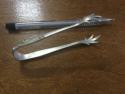 Alvin Rose crest Sterling Silver Sugar Nips Tongs