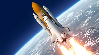 Photo Screensaver Worldwide Space Shuttle Launch Picture Free Shipping 124