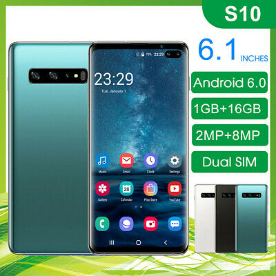 "Unlocked S10 6.1"" Smart Phone 1G+16G Face ID Dual SIM Android Cell Mobile Phone"