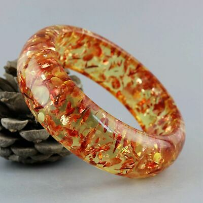 Collect China Decorate Amber Inlay Flower Petals Carved Exquisite Noble Bracelet