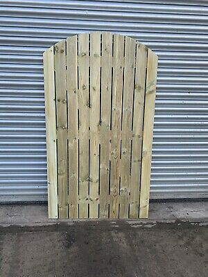 Staplewood Solid Bow Top Timber Gate Bespoke Wooden Gates Made To Order.
