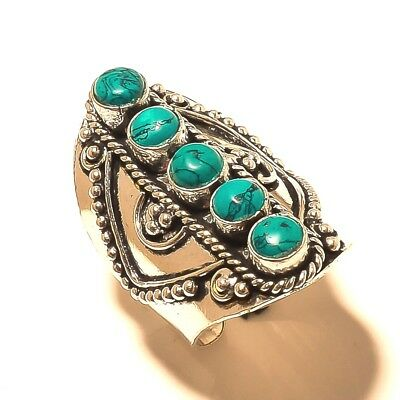 Silver Plated Free Shipping Ring Turquoise Gemstone Jewelry