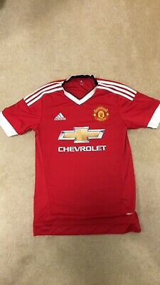 Manchester United Adidas Home Shirt 2015/16 Size Small Mens