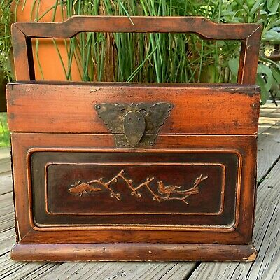 ===> Antique Chinese Jewelry Box Wood--Circa 1870    [282] <==