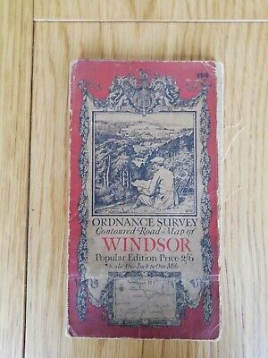Vintage Ordnance Survey Map Of Windsor