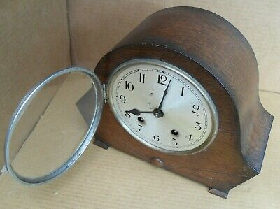 Vintage Empire Mantelpiece Clock Chiming Brass Movement 63321 Pendulum