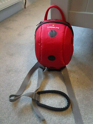 LittleLife Red Ladybird Safety Childs Backpack/Bag with Reins and Strap