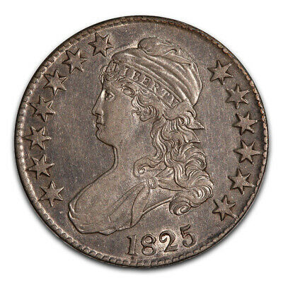 Bust Half Dollar Almost Uncirculated 1825 Double Die Obverse