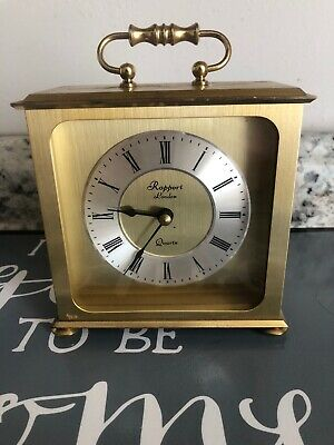Antique Rapport London Quartz Carriage Clock. Solid Brass- Batter Operated