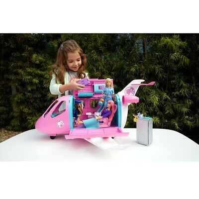 Barbie Dream Plane Playset Pink Airplane Accessories Toys Toddler Girls Play Set
