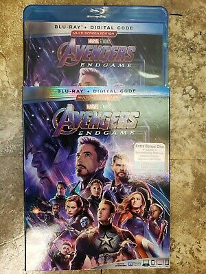 New 2019 Marvel - Avengers Endgame - Blu-Ray + Digital Copy + Slipcover -